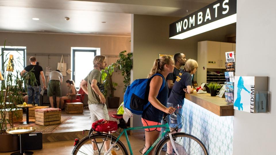 Eingangsbereich Wombats Hostel Wien-Naschmarkt