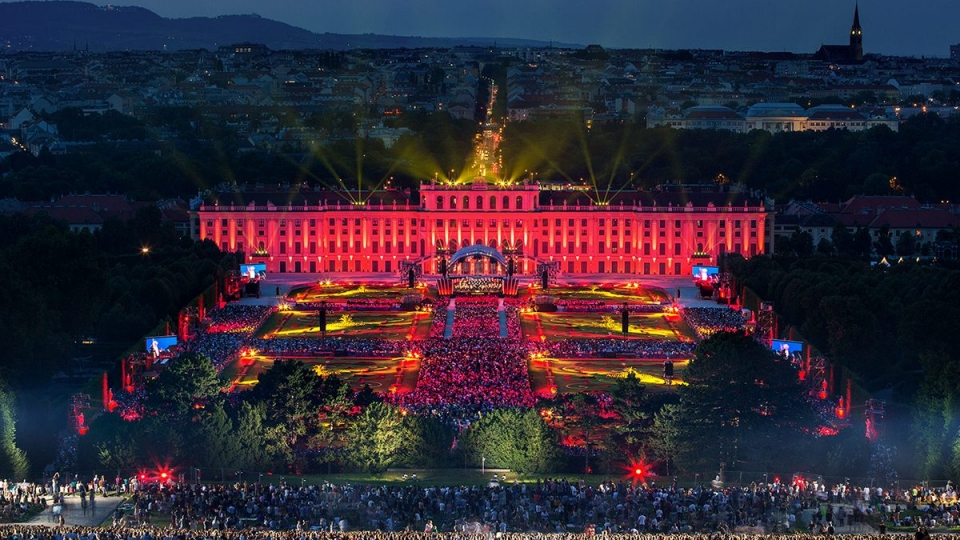 Schloss Schönbrunn als Kulisse für ein Konzert