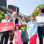 FestungsBahn begrüßte 1. Millionsten Fahrgast
