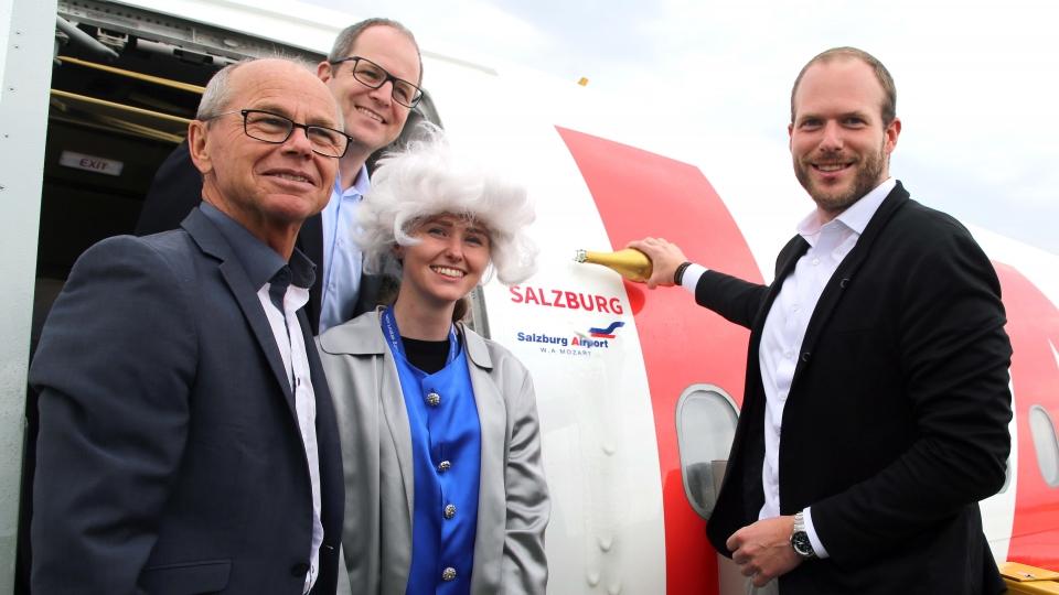 """Lauda-Airbus auf den Namen """"Salzburg"""" getauft"""