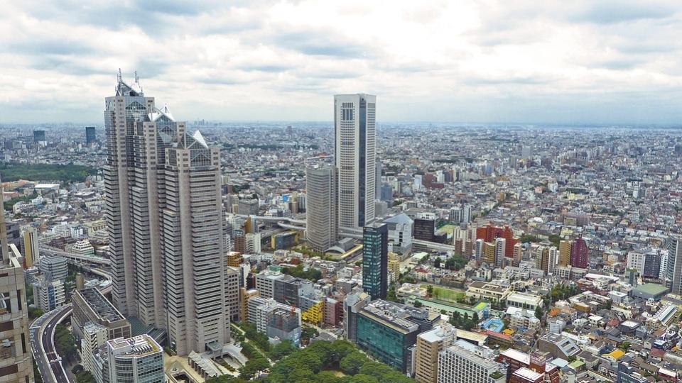 Blick auf Tokyo