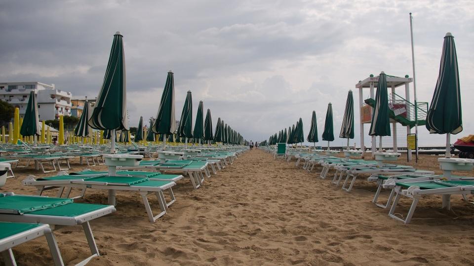 Strand von Jesolo in Italien