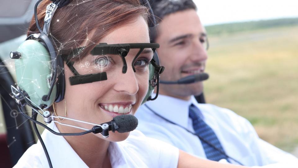 Eyetracking misst Aufmerksamkeit von Piloten