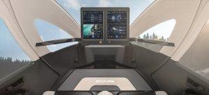 Cockpit eines Flugtaxis von EHang