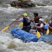 Ex-Guerilleros geben Rafting-Unterricht