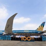 100. Flugzeug in der Flotte