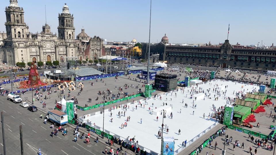 Mexico-City: Eisfläche für 1.200 Skater