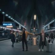 Zugkräftige Werbekampagne